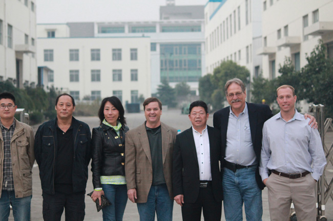 AES group, foreign representatives to visit our company, exchange, visit